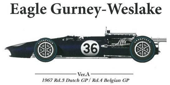 EAGLE Gurney-Weslake Ver.A : 1967 Rd.3 Dutch GP / Rd.4 Belgian GP