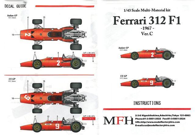 Ferrari 312F1 '67 Rd.9 Italian GP