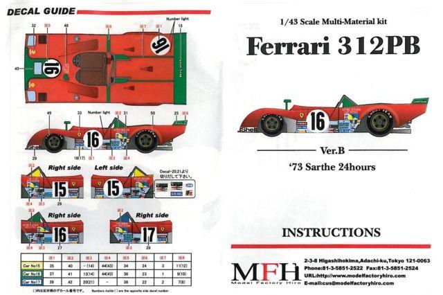Ferrari 312 PB '73 Sarthe 24hours