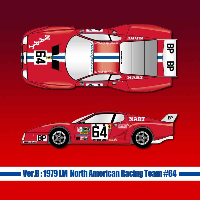 フェラーリ 512BB LM【MFH 1/12 Ver.B】:1979 LM North American Racing Team #64