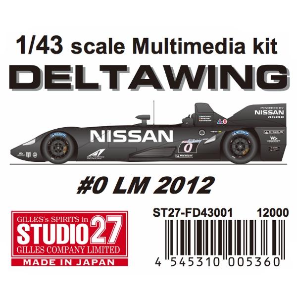FD43001 DELTA WING DELTA #0 LM kit FD43001 2012 1/43scale Multimedia kit, トリガーオンラインショップ:dd99a46e --- cognitivebots.ai