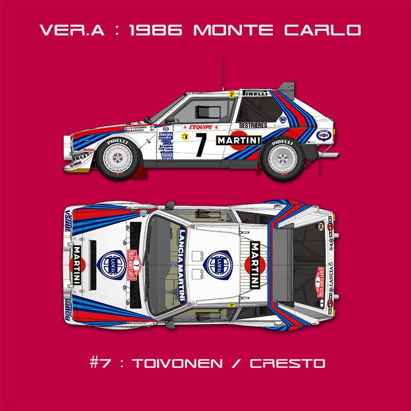 DELTA S4 1986 WRC Rd.1 Monte Carlo Ver.A【K544 モデルファクトリーヒロ 1/24】