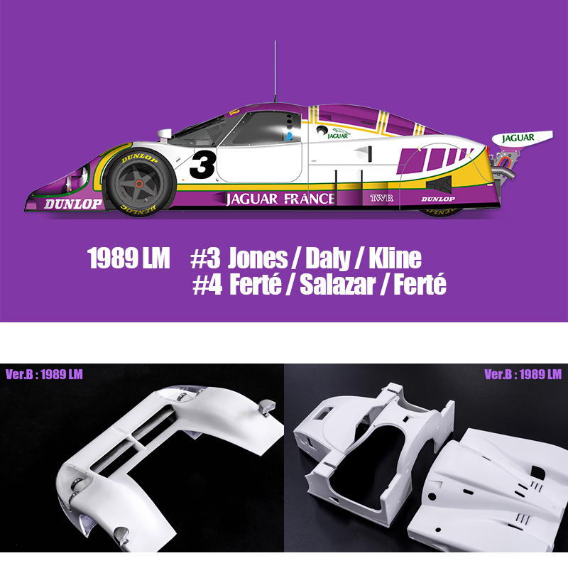 XJR-9 LM 1989 Ver.B【MFH 1/12 K555】