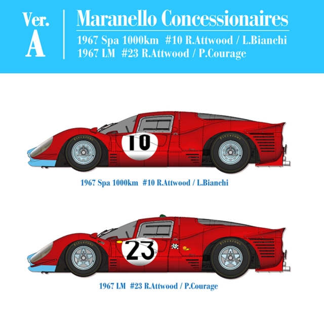 フェラーリ 412P Ver.A Maranello Concessionaires【MFH K562 1/12】