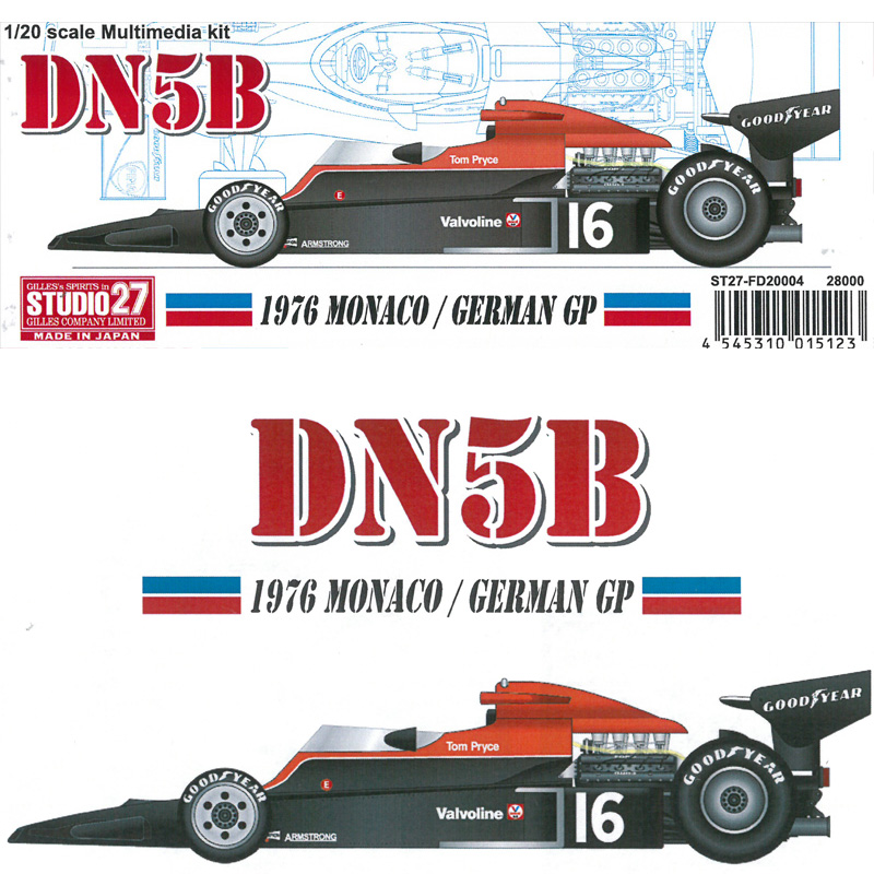 DN5B 1976 MONACO/GERMAN GP【スタジオ27 1/20 FD20004】