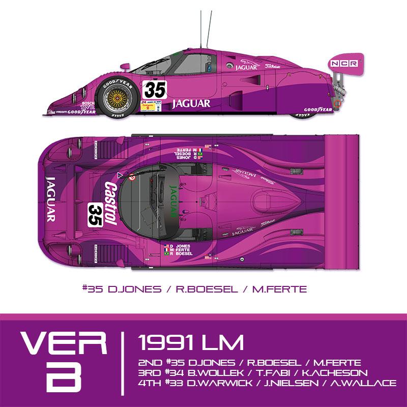 XJR-12 1991 LM【MFH 1/12 Ver.B】