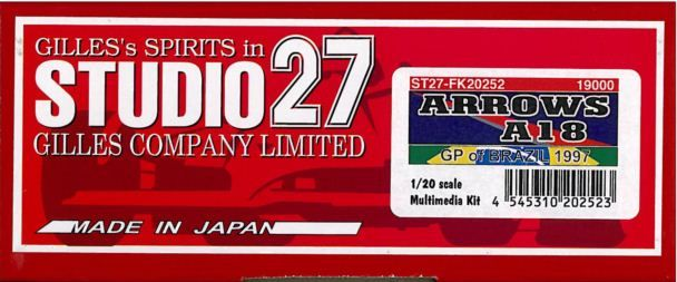アローズ A18 A18 GP of アローズ BRAZIL 1997【スタジオ27 1 of/20 FK20252】, オオノチョウ:5e277de8 --- sunward.msk.ru