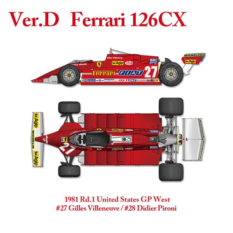 フェラーリ 126CX 1981 Rd.1United States GP West【MFH 1/12 K640 Ver.D】