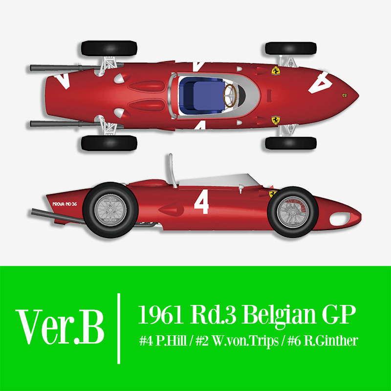 1/12 フェラーリ 156 SHARK NOSE 1961 Rd.3 Belgian GP【モデルファクトリーヒロ K643 Ver.B】