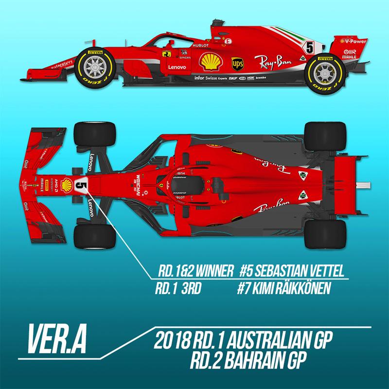 フェラーリ SF71H Ver.A【モデルファクトリーヒロ MFH K670】