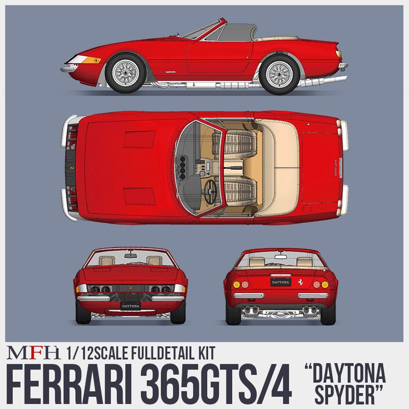 フェラーリ 365 GTS/4【MFH 1/12 K688】