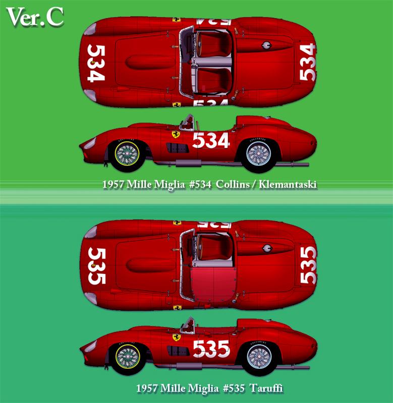 フェラーリ 335S 1957 Mille Miglia#534/315S #535 Taruffi【MFH 1/24 K693 Ver.C】