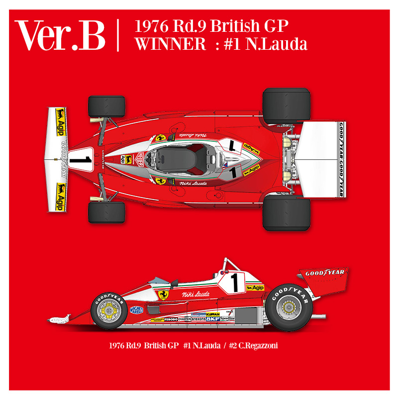 1/12 フェラーリ 312T2 Ver.B(1976 Rd.9 British GP)【MFH K705】
