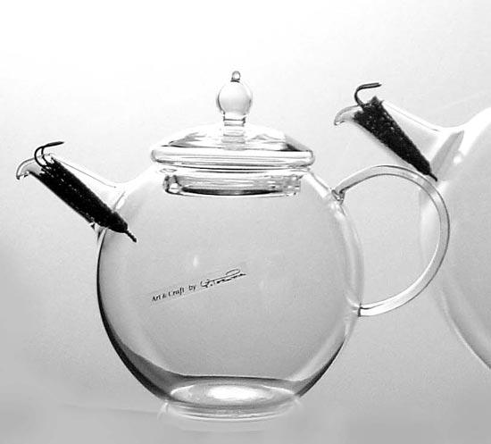 手作り製品!日本製で人気上昇中♪ ◎硝子工房クラフトユー 紅茶ポット 1.0L 4人用QPW-10 耐熱ガラスティーポット