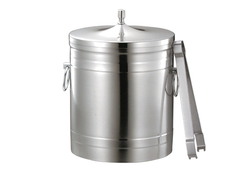* 18-8 puppy mark (co-dog) stainless steel ice bucket 1L 12.5cm in diameter (ice bucket)