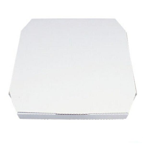 ピザボックス 白 12インチ(100枚入)187117325×325×H45mm/7-0902-0403_ES