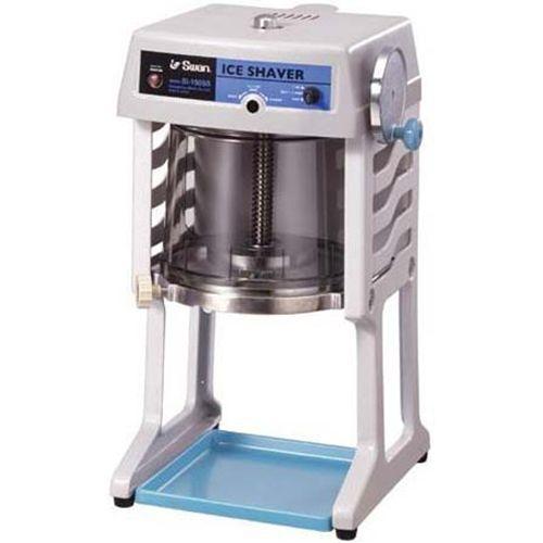 スワン電動式ブロックアイスシェーバー グレー SI-150SS(かき氷機・かき氷機業務用)7-0886-0101_ES