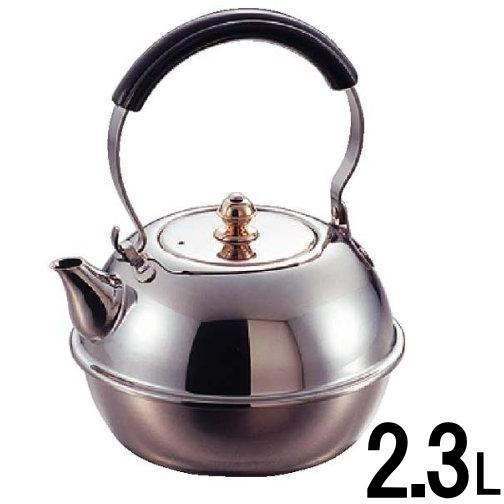 マルタマ 18-8新すず型湯沸し(P柄) 2.3L #446 (日本製ケトル)