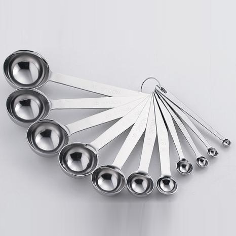 SW 超厚不锈钢测量勺 11 对 30 ~ 1 / 10 抄送