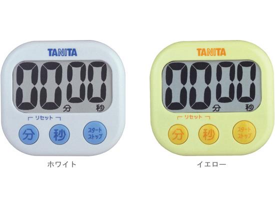100分計れる 定番から日本未入荷 TANITA お見舞い TD-384 タニタ 77×82×H23.2mm 100分計 でか見えタイマー