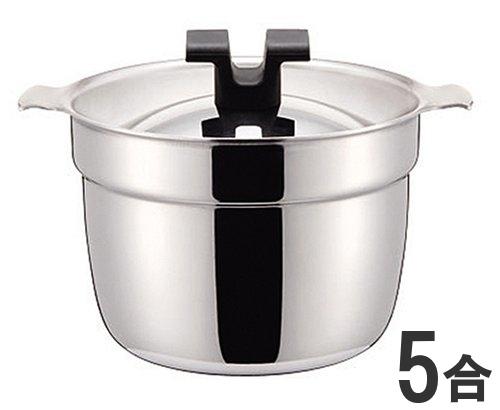 宮崎製作所 RICEPOTライスポット 5合炊き 全面ステンレス・アルミ芯3層鋼炊飯鍋 RP-5S