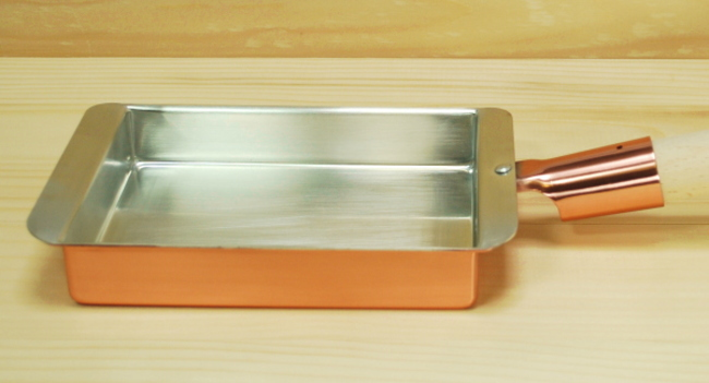 光久堂 銅製 玉子焼き器 関西型27cm内寸 幅27×長さ31.5cm(卵焼き)