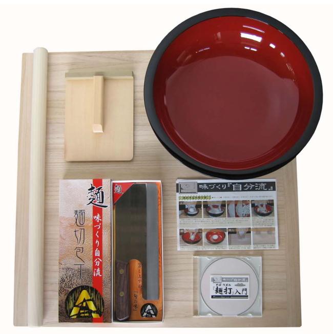 麺台60×60cm 4~5人用 普及型 麺打ちセット A-1200 実演DVD付<BR> そば打ちセット 蕎麦打ち めん打ち 140サイズ