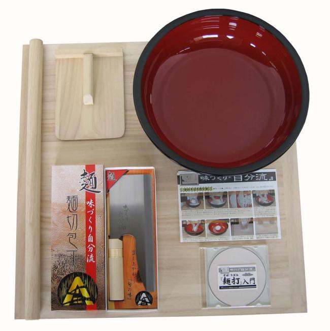 【送料無料】【140サイズ】 A-1230 麺台60×60cm 4~5人用 家庭用麺打ちセットA 実演DVD付<BR>そば打ちセット・蕎麦打ち