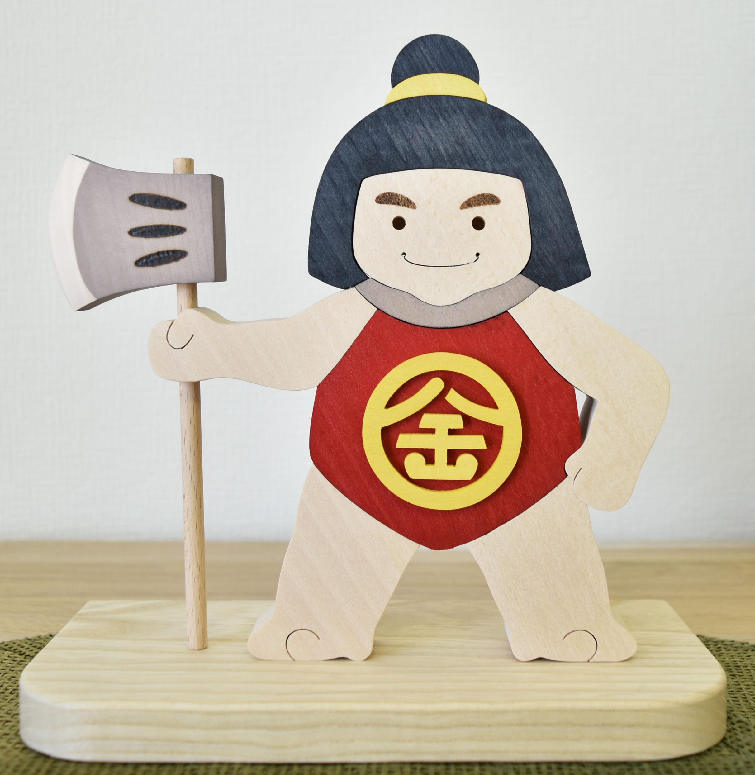 木製 期間限定で特別価格 人形 日本製 手作り 金太郎 五月人形 端午 子供大将 飾り シンプル コンパクト かわいい 強い 小さい 天然木 お祝い 大将 売却 さわれる 初節句 子供の日 プレゼント おしゃれ 木 子ども インテリア 男の子 ミニ きんたろう