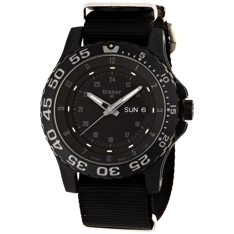 【オリジナルラバーストラップ付】腕時計 メンズ ミリタリー Traser 9031571 トレーサー TYPE6 MIL-G Shade サファイア 国内正規品 Military