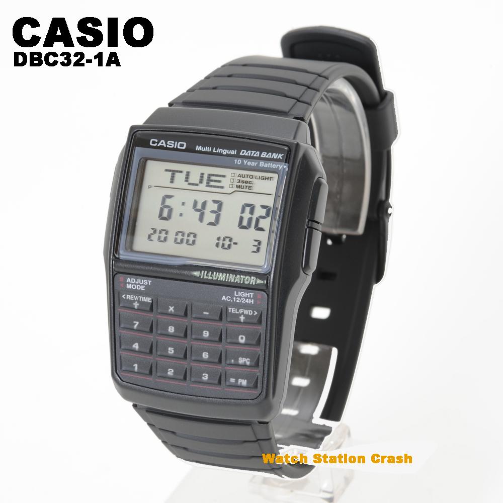 時刻合わせをしてお送りしています 5年保証 CASIO デジタル 腕時計 メンズ カシオ タイムセール 希少 データーバンク クール テレメモ DBC-32-1A レトロフューチャー ウォッチ DBC32-1A