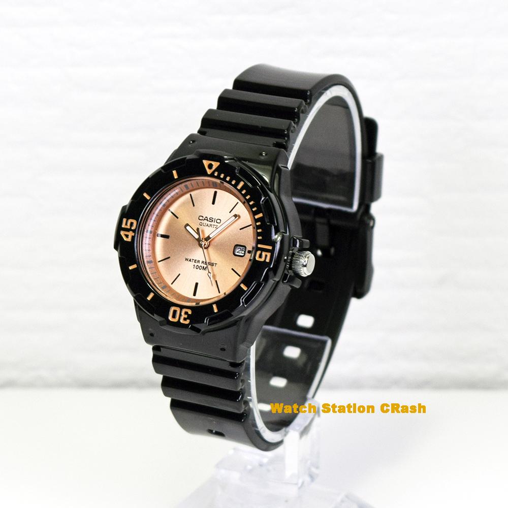【NEW】CASIO カシオ 時計チープカシオ チプカシ プチプラ ブラック ローズゴールド LRW200H-9E2 100M防水 カレンダー付 レディース 女性 腕時計 BOXなし メール便(ネコポス便)