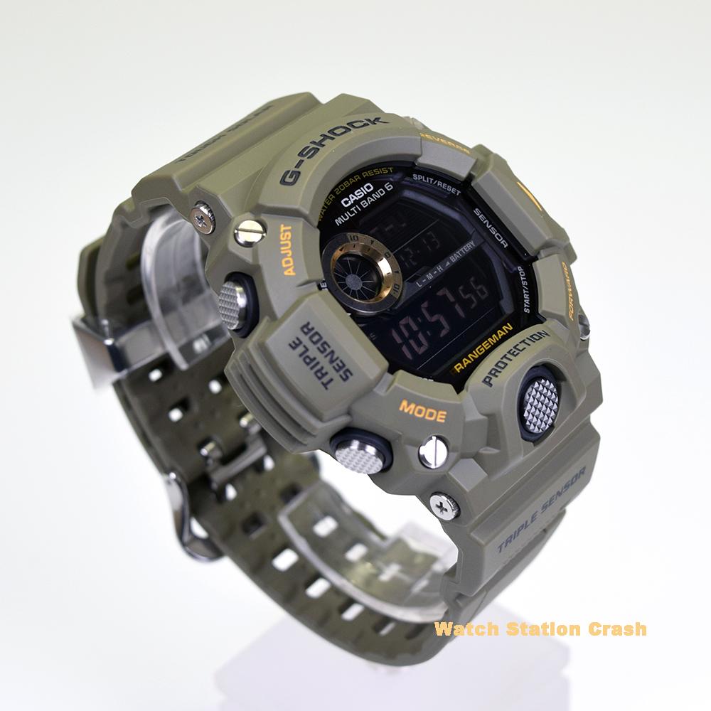 【電波 タフソーラー】gw-9400-3 gw9400-3 CASIO カシオ G-SHOCK RANGEMAN レンジマン g-shock オリーブカーキ khaki 男性 メンズ 腕時計 [MASTER OF G] 海外モデル デジタル 防水機能 Gショック 電波時計 トリプルセンサー