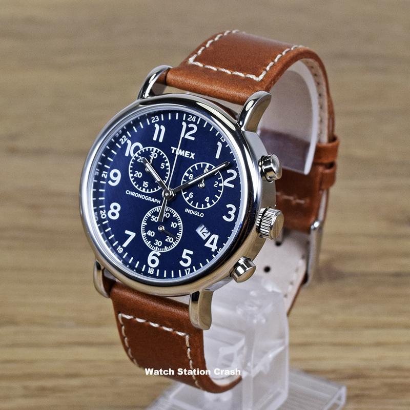 [日本未発売] TIMEX タイメックス TW2R426 TW2R42600 ウィークエンダーセントラルパーク クロノグラフ 本革ベルト 40mm メンズ レディース 腕時計  男性 女性 ブルー 青 カジュアル アナログ クォーツ 茶 おしゃれ プレゼント ギフト ユニセックス