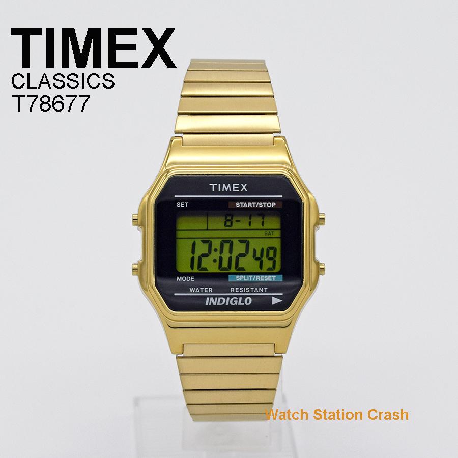 贈り物 プレゼント 誕生日 TIMEX 腕時計 メンズ レディース ゴールド ストアー T78677 本店 おしゃれ アメリカン ウォッチ タイメックス デジタル かっこいい レトロチック ギフト