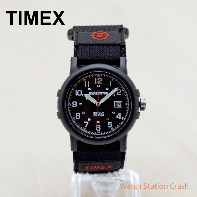 プレゼント 途贈り物 誕生日  TIMEX タイメックス エクスペディション キャンパー ベルクロ 38MM T40011 ブラック ミリタリー 腕時計 メンズ 男性 アナログ ウォッチ ギフト プレゼント おしゃれ