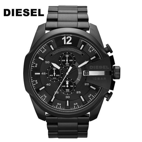 DIESEL ディーゼル DZ4283 Mega Chief メガチーフ アナログ クロノグラフ ブラック 黒 男性 メンズ diesel 腕時計 3D レイヤードダイヤル カジュアル