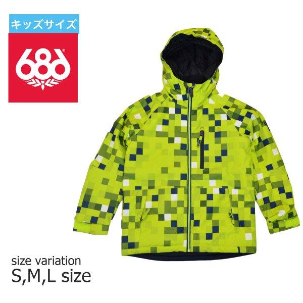 686 ロクハチロク SALE モデル ジャケット KIDS 子供服 スノーボードウェア スノーボード JINX INS JK SNOW WEAR 正規品 LIME 総柄