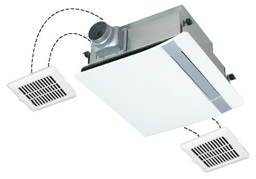 三菱電機 浴室換気乾燥機 バスカラット24(24時間換気機能付・200V電源/ミスト機能付3部屋用) V-273BZL-MS