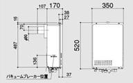 ノーリツ ガス給湯器 高温水供給クイックオート PS扉内設置後方排気延長形(PS標準設置後方排気延長形)16号 GQ-1626AWX-TB BL