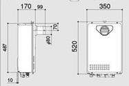 ノーリツ ガス給湯器 給湯専用 PS扉内前方排気延長形(PS標準前方排気延長形)16号 GQ-1637WE-C
