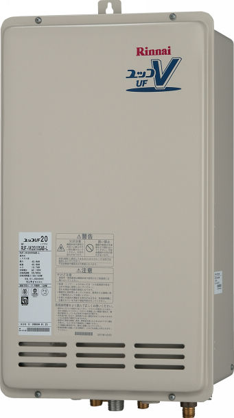 Rinnai(リンナイ) ガス給湯器 オート PS後方排気型20号 コンパクトタイプ RUF-VK2000SAB-L(A)