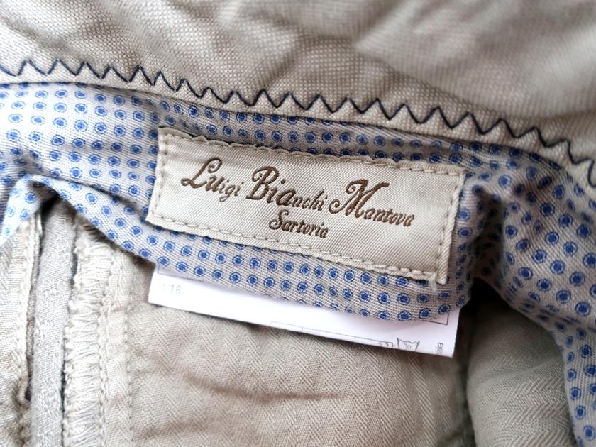 Luigi Bianchi Mantova ルイジ ビアンキ マントヴァ L B M 1911 エルビーエム 定価2 7万 総柄 小紋柄 ジャガード センタープリーツ スラックス パンツ 46 グレージュ ▲040 91015t07sQBroCtdhx