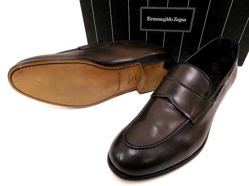 イタリア製 定価10.4万 Ermenegildo Zegna エルメネジルド ゼニア A2614X LOAFER 今季も再入荷 メイルオーダー FASCETTA 靴 シューズ モカシン 7h ローファー ym180803-3 スリッポン ブラウン