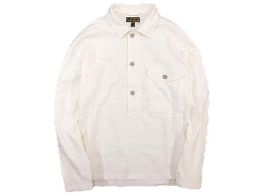 中古 Nigel Cabourn ナイジェルケーボン BIG SHIRT JERSEY ビッグシャツ ジャージー 48 (ホワイト) /ym180806-19