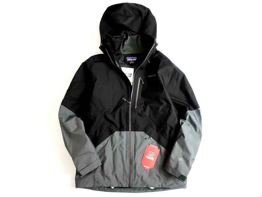Patagonia パタゴニア Men's Snowshot Jacket メンズ スノーショット ジャケット The RECCO® Rescue System搭載 シェルジャケット L ブラック▲180▼90730m01