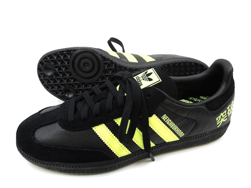 newest c64b8 feacd adidas Adidas x NEIGHBORHOOD Ney bar Hood SAMBA F35867 sneakers shoes /  black X yellow / US8.5 (ym181018-1), US9(ym181018-2), US9.5(ym181018-3), ...