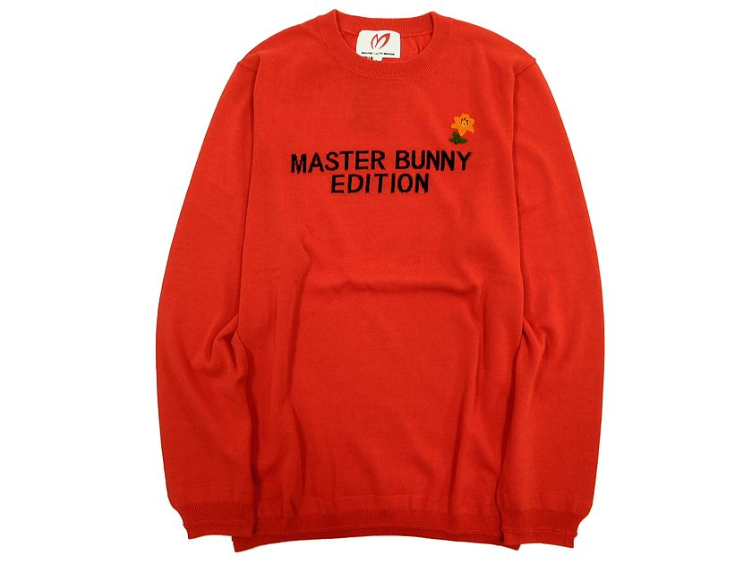 MASTER BUNNY EDITION マスターバニーエディション ゴルフ パーリーゲイツ ロゴ入り クルーネック ニット セーター レッド 4(ka20180205-14) 5(ka20180205-13) 6(ka20180205-12) /メンズ