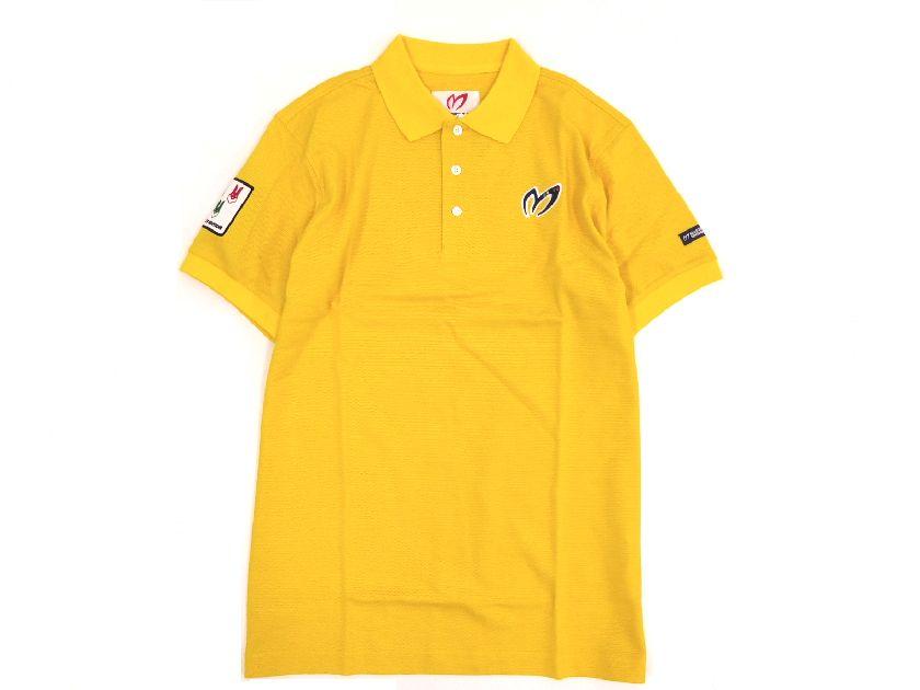 日本製 MASTER BUNNY EDITION マスターバニー パーリーゲイツ マイティバニーメモリアルロゴカラー 半袖 ポロシャツ 黄 4(ka20180205-4) 5(ka20180205-5) 6(ka20180205-6) メンズ