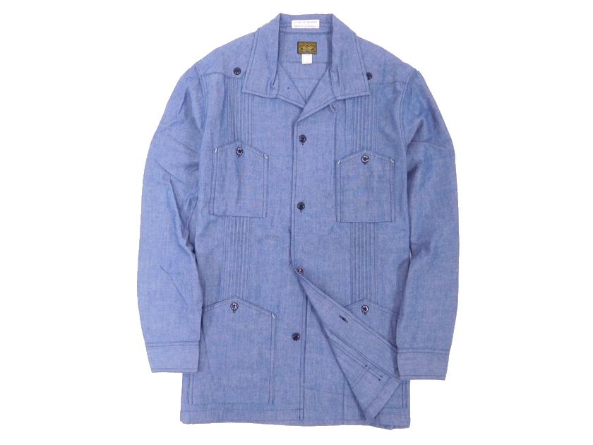 定価3.7万 BIG YANK ビッグヤンク THE THIRD EDITION 山ポケ オープンカラー シャンブレー キューバシャツ 15(ka20180307-2) 14 1/2(ka20180307-3) /メンズ